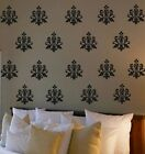 French Damask Pack of 20 Vinyl Wall Decals Decor Sticky Art