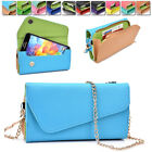 amazon xperia z case - Womens PU Leather Wallet Case Cover & Crossbody Clutch for Smart-Phones MLUB34