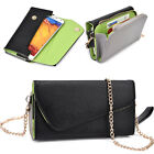 Ladie's PU Leather Wallet Case Cover & Crossbody Clutch for Smart-Phones XLUB5