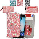 Ladie's Convertible Paisley Smartphone Wallet Cover & Wristlet Clutch ESMLP2-12