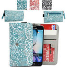 Ladie's Convertible Paisley Smartphone Wallet Cover & Wristlet Clutch ESMLP2-14