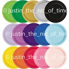 "20x ROUND 7"" Paper PLATES 17cm Plain Colours Catering Birthday Party Tableware"