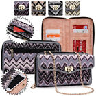 Women's Convertible Tribal Smartphone Wristlet Cover & Crossbody Purse SUNIS2-10