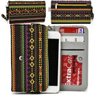 KroO ESPS-16 MD Aztec Patterned Protective Wallet Case Cover for Smart-Phones