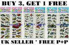 10 Sheets Vehicles Pattern Stickers Party Bag Fillers Scrap Book Gift Toys