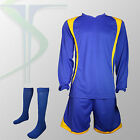 Football Team Kits - 15 x Blade Blue / Yellow  - Full Team Kit - All Numbered !!