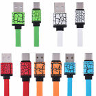 Flat USB-C Connector Fast Charging Sync Data Cable Type-C USB Charger Cable