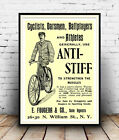 Anti Stiff , Vintage cycling advert : Reproduction advert, poster, Wall art.