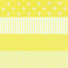 YELLOW WHITE SPOTS & STRIPES 4 TO CHOOSE FROM CRAFT QUILT FABRIC Free Oz Post