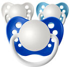 3 Personalized Pacifiers Orthodontic Pacifier Baby Boy Shower Gift Pic Size