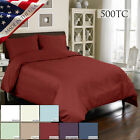 Veratex Supreme Sateen 500tc Egypt Cotton 3pc Duvet Set Twin Full Queen King Cal