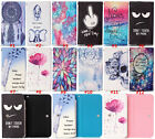 New Cartoon Flower Leather slot wallet pouch case skin cover For Samsung Phones