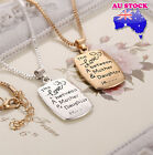 """THE LOVE BETWEEN A MOTHER AND DAUGHTER IS "" pendent CHARM on Box CHAIN"