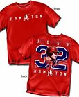 Josh Hamilton Anaheim Angels Silhouette Style  Adult Size T Shirt - Red New