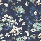 PAINTERLY WASH FLORAL ART GALLERY PRINTED DENIM FABRIC 148cm WIDE - FREE OZ POST