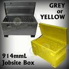 914mmL Grey or Yellow Steel Tradesman Job Site Toolbox