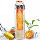 Simple Sports Travel Water Bottle Fruit Juice Infusion Infuser Water Cup Tritan