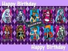 Monster High personalised edible icing cake topper with loot bags + balloons