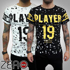 UOMO T-SHIRT TATTOO EFFETTO HIPSTER OLD SCHOOL Vintage PLAYER19 PITTURA S,M,L,XL