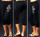 Sinful by Affliction BUCKINGHAM Woman's Capri Sweatpants - TP400 - Black - NEW