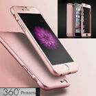 360° Full Hybrid Tempered Glass + Acrylic Hard Case Cover For iPhone 6 6S 7 Plus фото