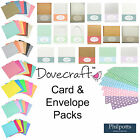 Dovecraft Card Blanks and Envelope Packs