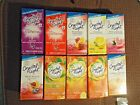 10 PACKETS  CRYSTAL LIGHT ON THE GO   MANY FLAVORS TO CHOOSE FROM