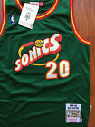 NBA Seattle Supersonics Gary Payton Throwback Classic Sewn M and N Jersey NWT
