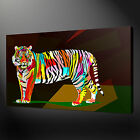 TIGER POP ART CANVAS WALL ART PICTURE PRINTS FREE FAST UK DELIVERY