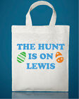 PERSONALISED SMALL TOTE BAG - EASTER EGG HUNT BAGS 20CM x 25CM *