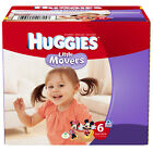 Huggies Little Movers Plus Diapers Size 1 2 3 4 5 6 PICK ANY SIZE