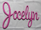 Connected Wooden Wall Name - Medium - Playful Font - Painted - Personalized