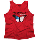 Connecticut State Americana Patriotic Butterfly Cute Gift Idea Tank Top Shirt