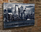 Large Canvas Wall Art Picture Print New York City SkyLine Black And White KN10