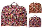 Floral Leaves Cotton Quilted Lightweight Garment Luggage Overnight Travel Bag