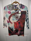 Look Both Ways Womens Blouse Top Far East Leopard Design Sizes S M L & XL NWT