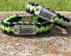 Seattle Seahawks Paracord Bracelet w/ NFL Dog Tag and Metal Buckle.  AWESOME!!! on eBay