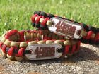 San Francisco 49ers Paracord Bracelet w/ NFL Dog Tag and Metal Buckle. AWESOME!! on eBay