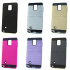 Lot/6 Brushed Finish Hybrid Case for Samsung Galaxy Note 4 Wholesale
