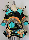 Dare2bstylish Abstarct Print Asymmetrical LagenLook Cute Travelers Tunic