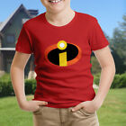 The Incredibles Mr Logo Symbol Hero Costume Kids Boys Youth Teen Tee T-Shirt