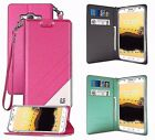 For ZTE Phone Series Flip Color Folio Wallet Diary ID Slot Pouch Stand Case