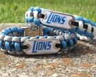 Detroit Lions Paracord Bracelet w/ NFL Dog Tag and Metal Buckle. LIONS AWESOME!! on eBay