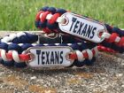 Houston Texans Paracord Bracelet w/ NFL Dog Tag and Metal Buckle. AWESOME!!! on eBay