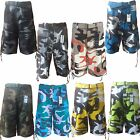 "Men's Army Camouflage Cargo Shorts and Solid Colors With Belt ""Free Shipping"""