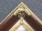 "6"" WIDE LARGE Traditional Ornate Brown Red Mahogany Gold Picture Frame 689RP"