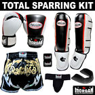 MORGAN ULTIMATE SPARRING COMBO - 16oz boxing gloves, shin guards, shorts, groin