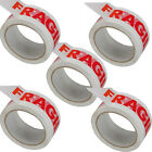 NEW BIG Rolls Of LOW NOISE FRAGILE Packing Tape 48mmx 66m PACKAGING SEALING TAPE