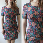 VINTAGE 1960S FLORAL MOD RETRO COCKTAIL GOGO OCCASIONS EVENING WIGGLE  DRESS 8