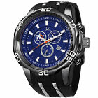 Men's Joshua & Sons JS50 Quartz Sporty Chronograph Date Silicone Strap Watch